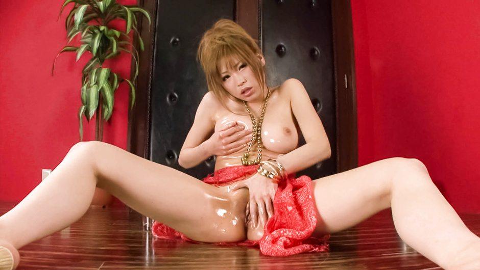 Sexy MILF Ai Sakura riding a thick dildo - JAVHD